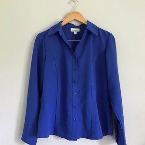 Blue Dressbarn Women's Blouse